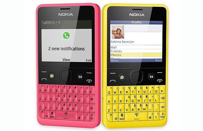 Nokia yeni telefonu Asha 210'u tanıttı.