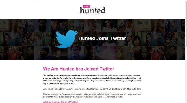 Twitter Music'in temeli satın alınan We are Hunted olacak