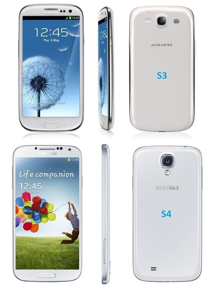 Galaxy S3 ve S4