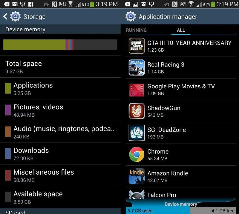 S4 Hafıza   Galaxy S3 mü S4 mü?