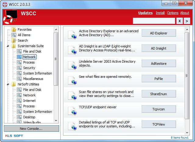 Windows System Control Center