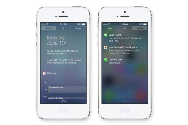 iOS 7 Bildirim Çubuğu