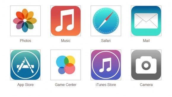 iOS7 Simgeleri