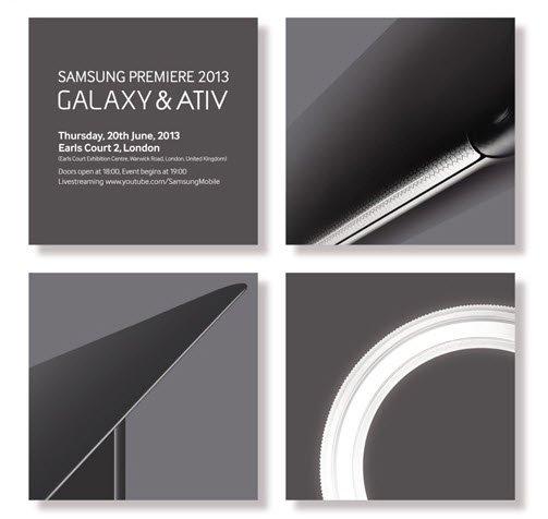 Samsung Premiere 2013: Galaxy ve ATIV