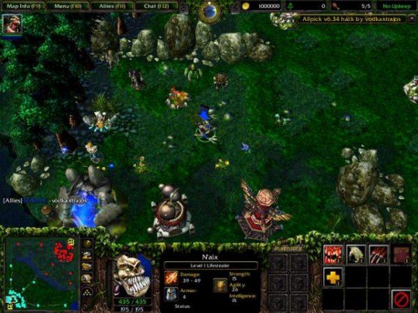 Warcraft 3 için modlanmış DOTA haritası.
