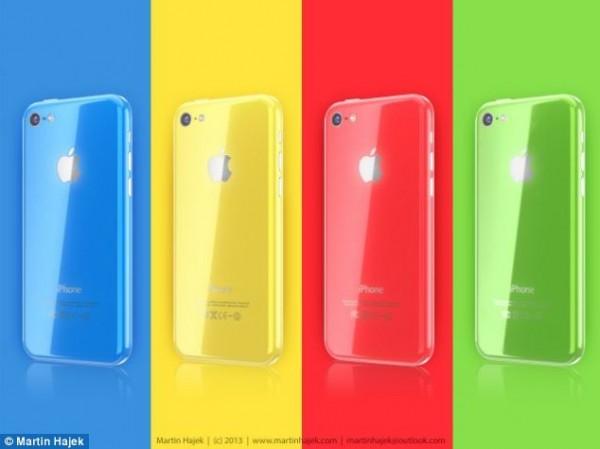 iPhone 5C'nin renk seçenekleri için hazırlanmış bir fan tasarım çalışması.
