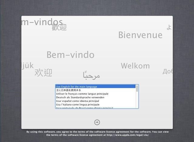 Mac OS X Yükleme Ekranı
