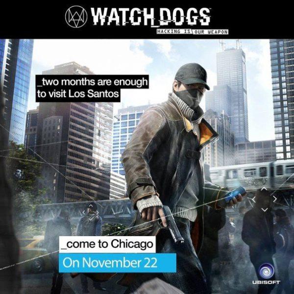 Ubisoft'un Watch Dogs için sunduğu yeni afiş.