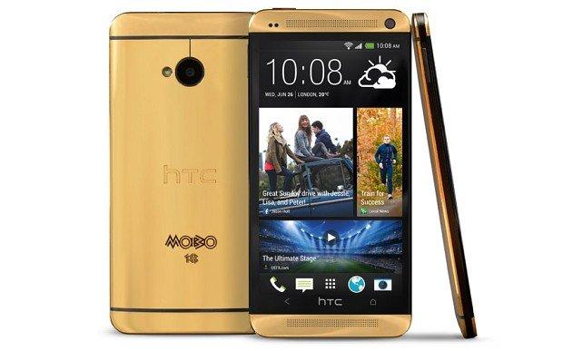 HTC, Mobo ödülleri için özel olarak ürettiği altın kaplama akıllı telefonu tanıttı.