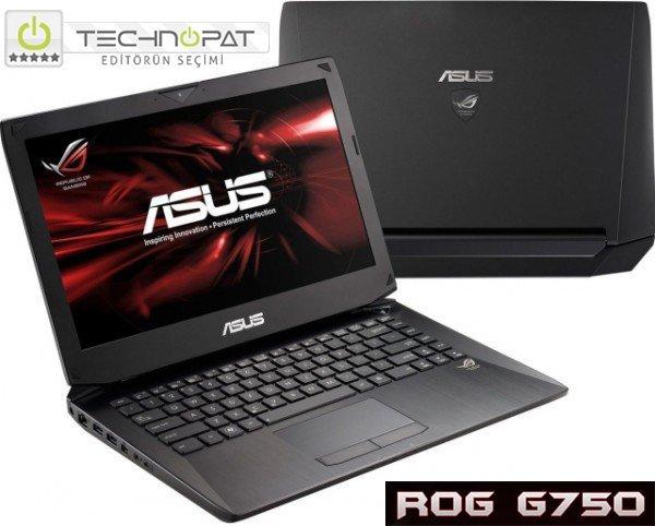 ASUS, ROG Tytan'ın gücünü dizüstüne taşımış: ROG G750 yüksek performansı ve kalitesiyle Technopat Editör'ün Seçimi ödülü kazanıyor