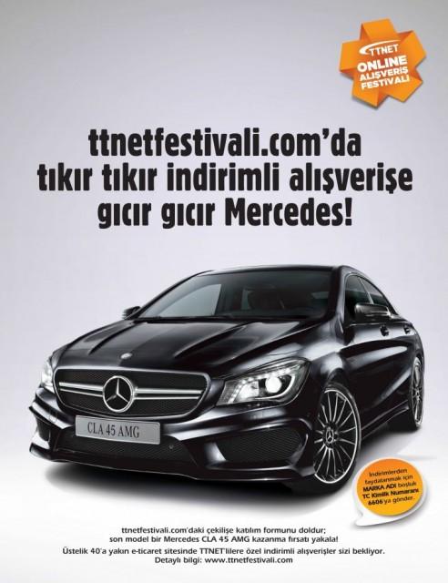 ttnet cekilis mercedes 492x640   TTNET Online Alışveriş Festivali Başlıyor!