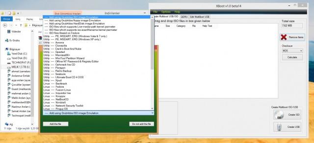 XBoot Ekranına ISO Sürükleme