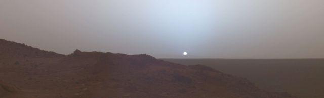 Mars'ta Güneşin Batışı
