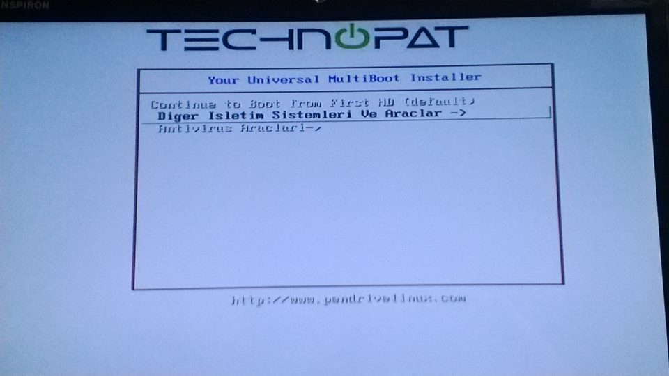 multiboot menu