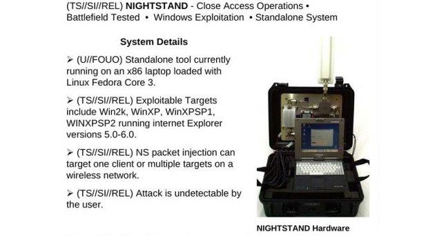 Nightstand adı verilen, radyo dalgalarıyla bilgiye ulaşabilen portatif istasyon.