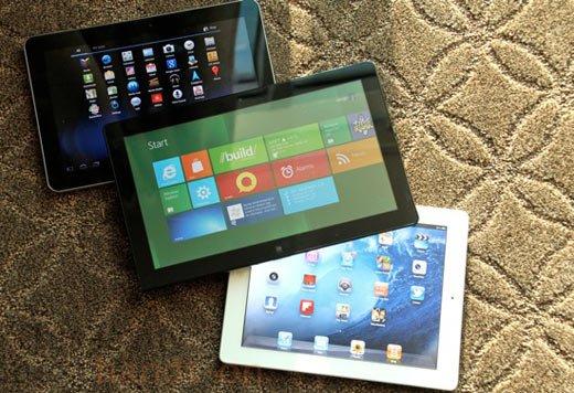 Windows 8 işletim sistemine sahip tabletler, Android ve Apple'ın önüne geçebilir.
