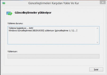Windows 8.1 Update 1 Güncelleme KB2919355