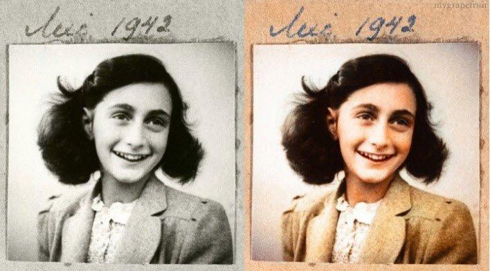 Almanya'daki Musevi soykırımının simgelerinden Anne Frank isimli kız.