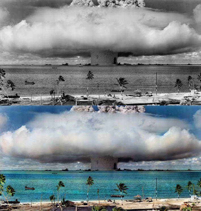 Hidrojen bombası test edilirken...