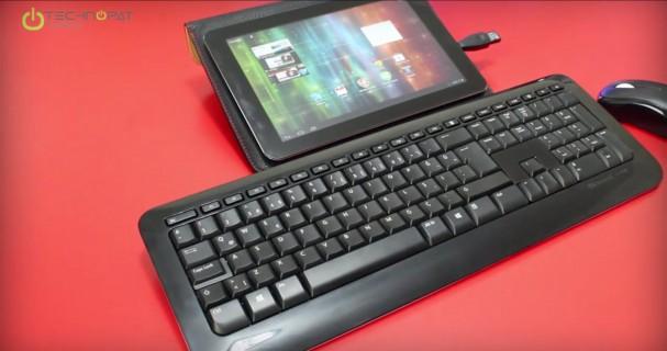 İş amaçlı kullanımda beraberinde gelen OTG adaptörü ile klavye fare çifti bağladık.
