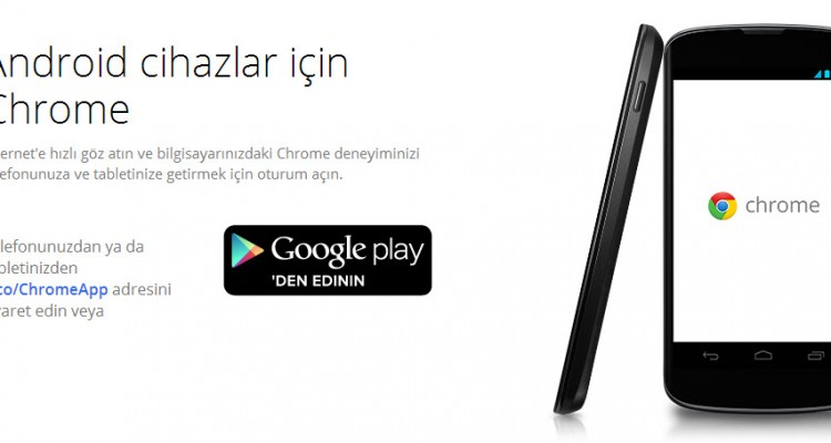 Android Chrome sürümü