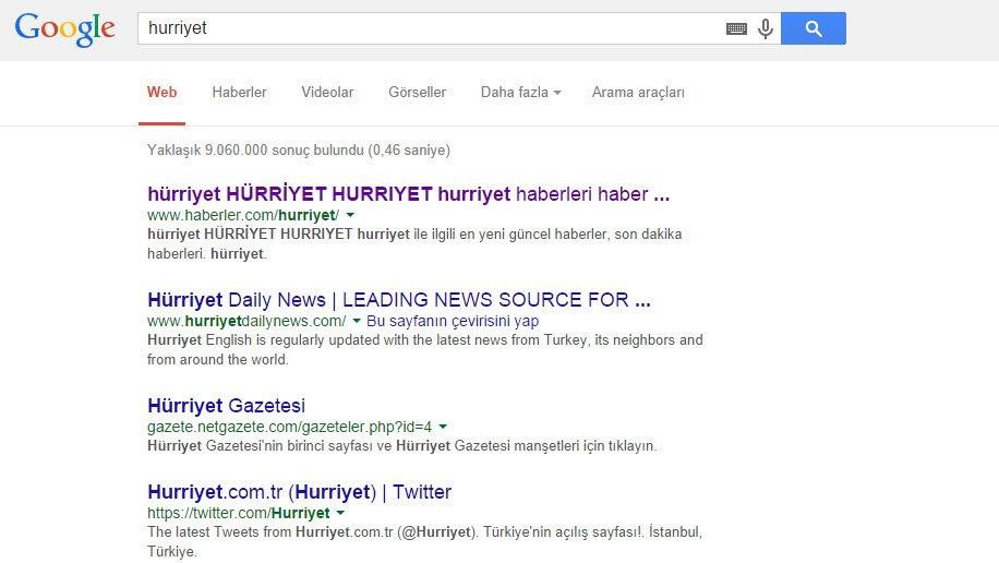 hurriyet-google-arama