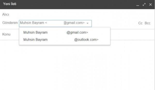 yeni ileti gmail