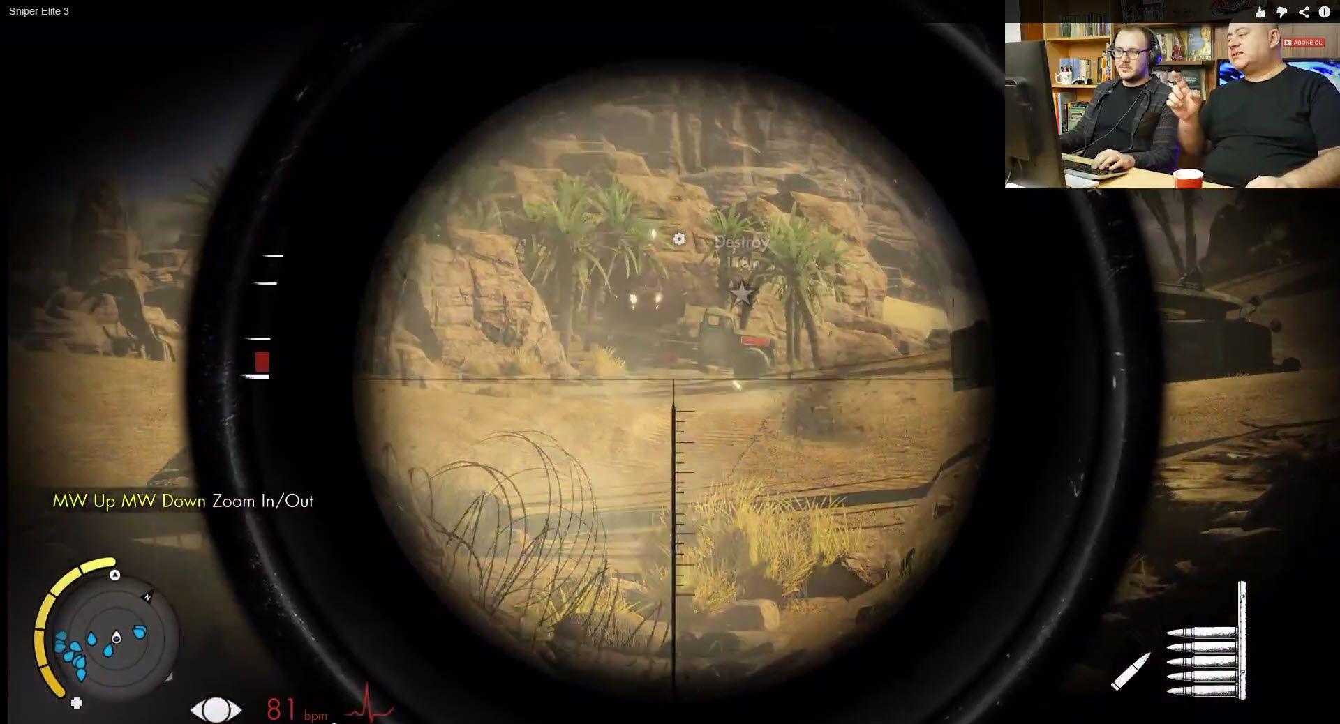 Çöl Haritasını Ultra Hd De Oynadık: Sniper Elite 3 Oynuyoruz: Kurşuna Kafa Atan Adam