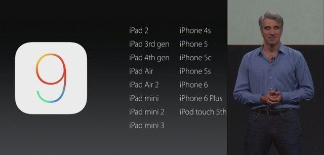 ios 9 cihazlar