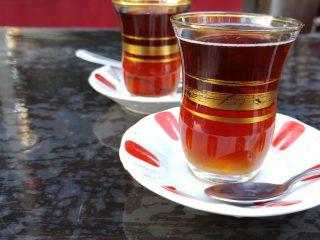 Kadırga'da çay molası