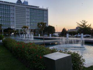 İstanbul Büyükşehir Belediyesi'nin önündeki fıskiye