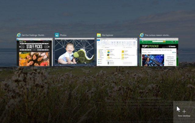 windows 10 sanal masaüstü