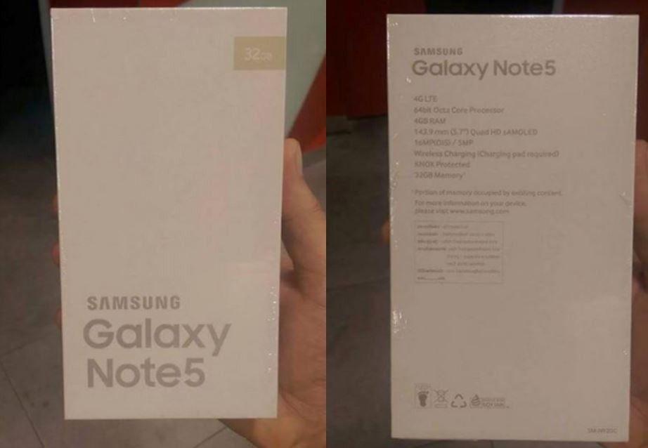 Galaxy Note 5 Sızıntı