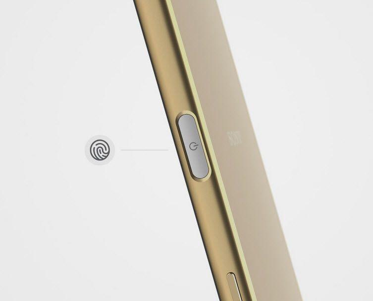 Xperia Z5 Premium'un parmak izi okuyucusu açma kapatma tuşunun üzerinde yer alıyor.