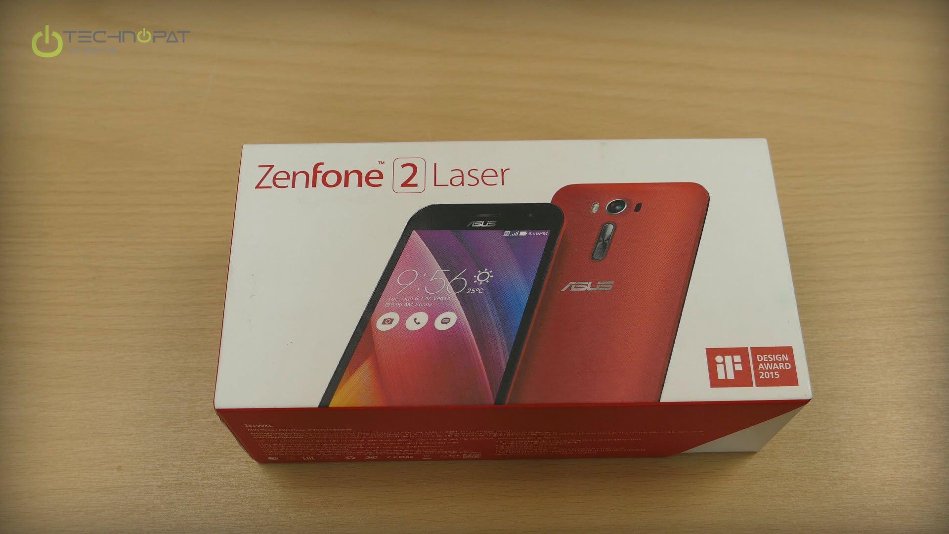 ZenFone 2 Laser - Kutu tasarımı