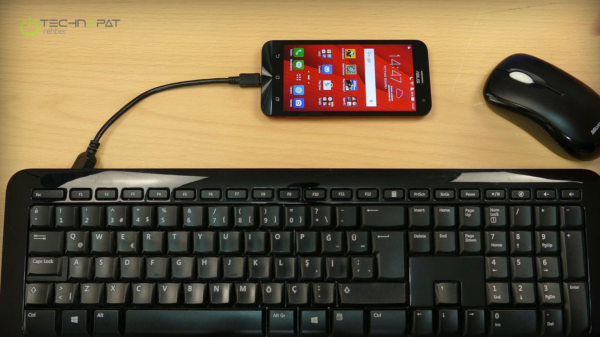 Telefona ve tablete klavye, fare ikilisini bağlayabilirsiniz