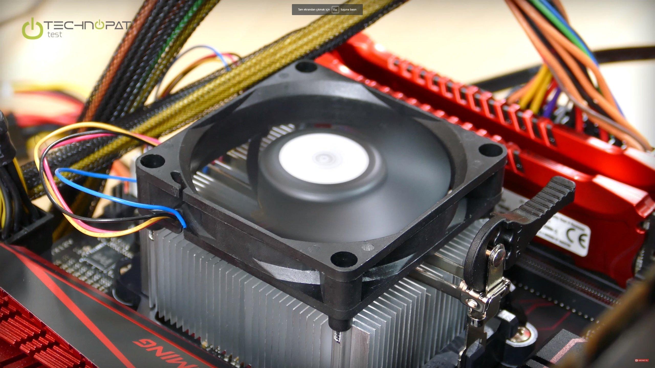 Eski AMD Stock Fan yani kutudan çıkan ücretsiz soğutucu
