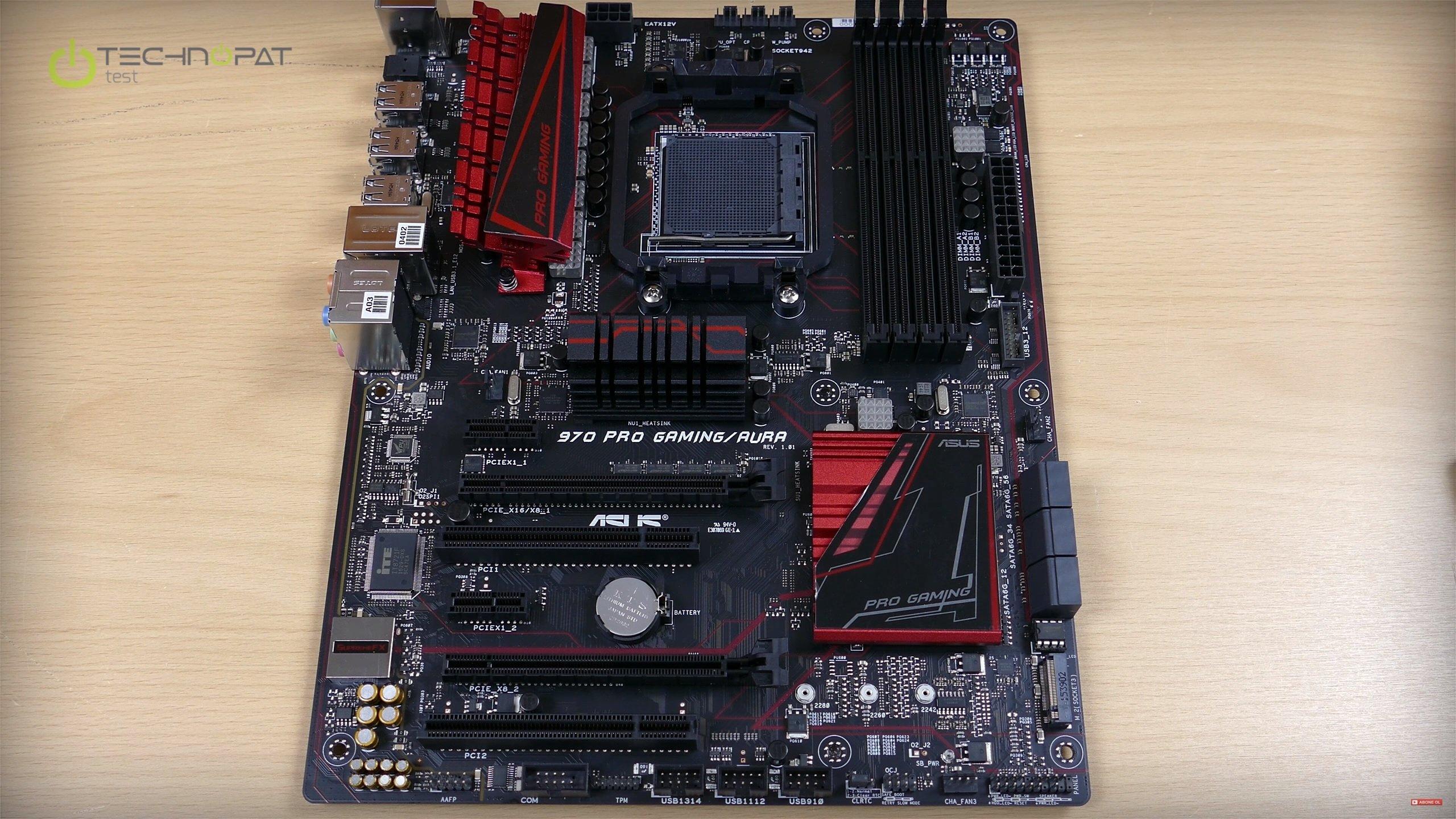 ASUS 970 Pro Gaming Aura yeni bir AMD AM3 anakart