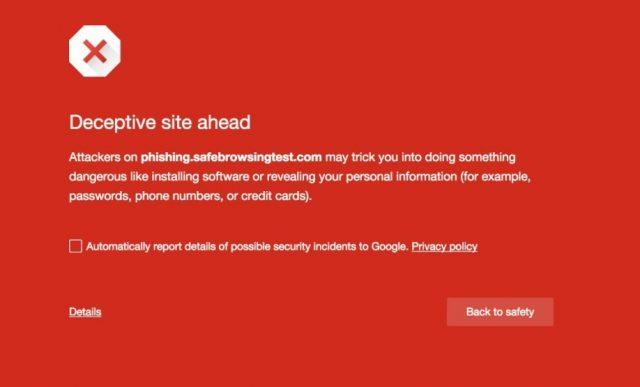 google-zararli-site