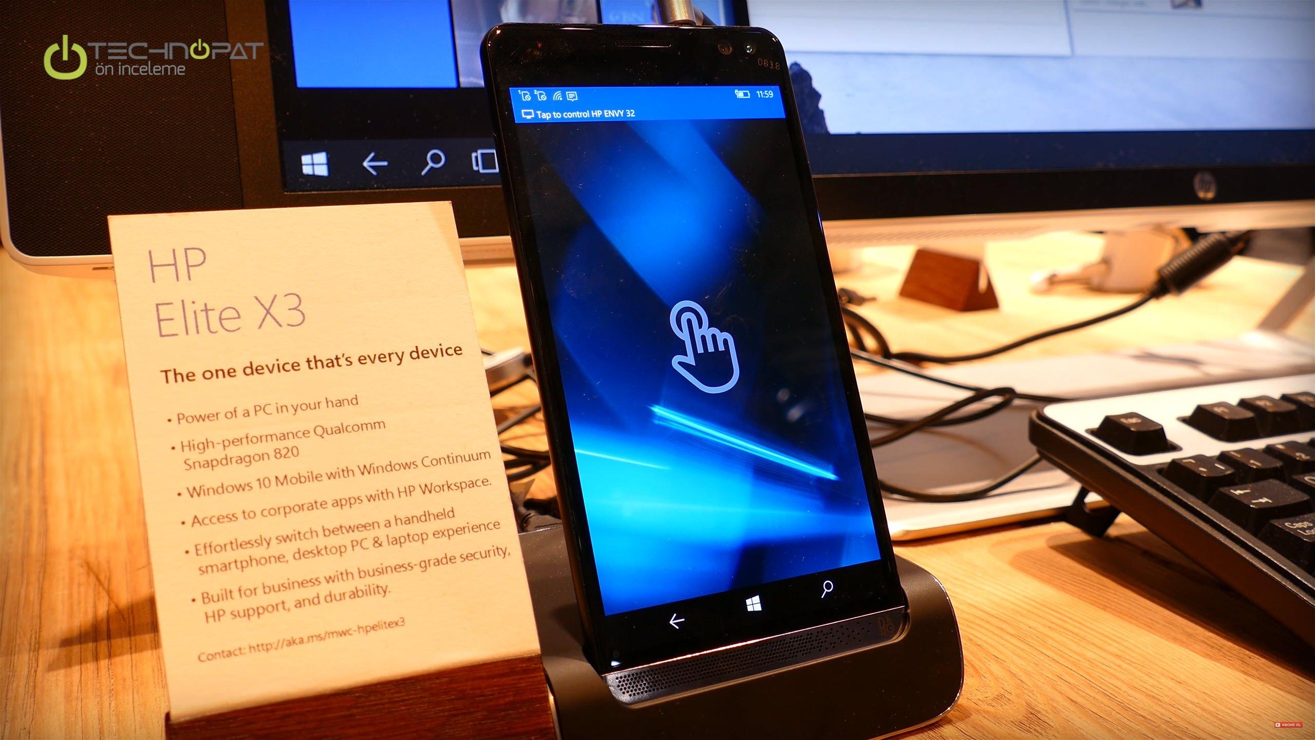 HP Elite X3 Ön İnceleme - MWC 2016