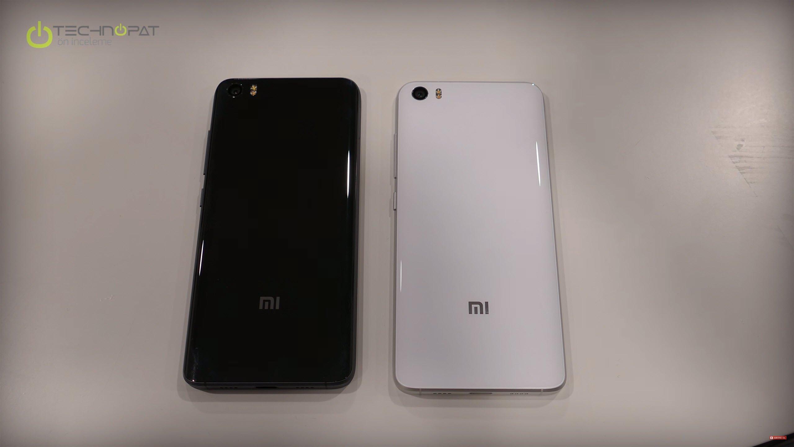 Xiaomi Mi 5 Pro ve sağda Mi 5