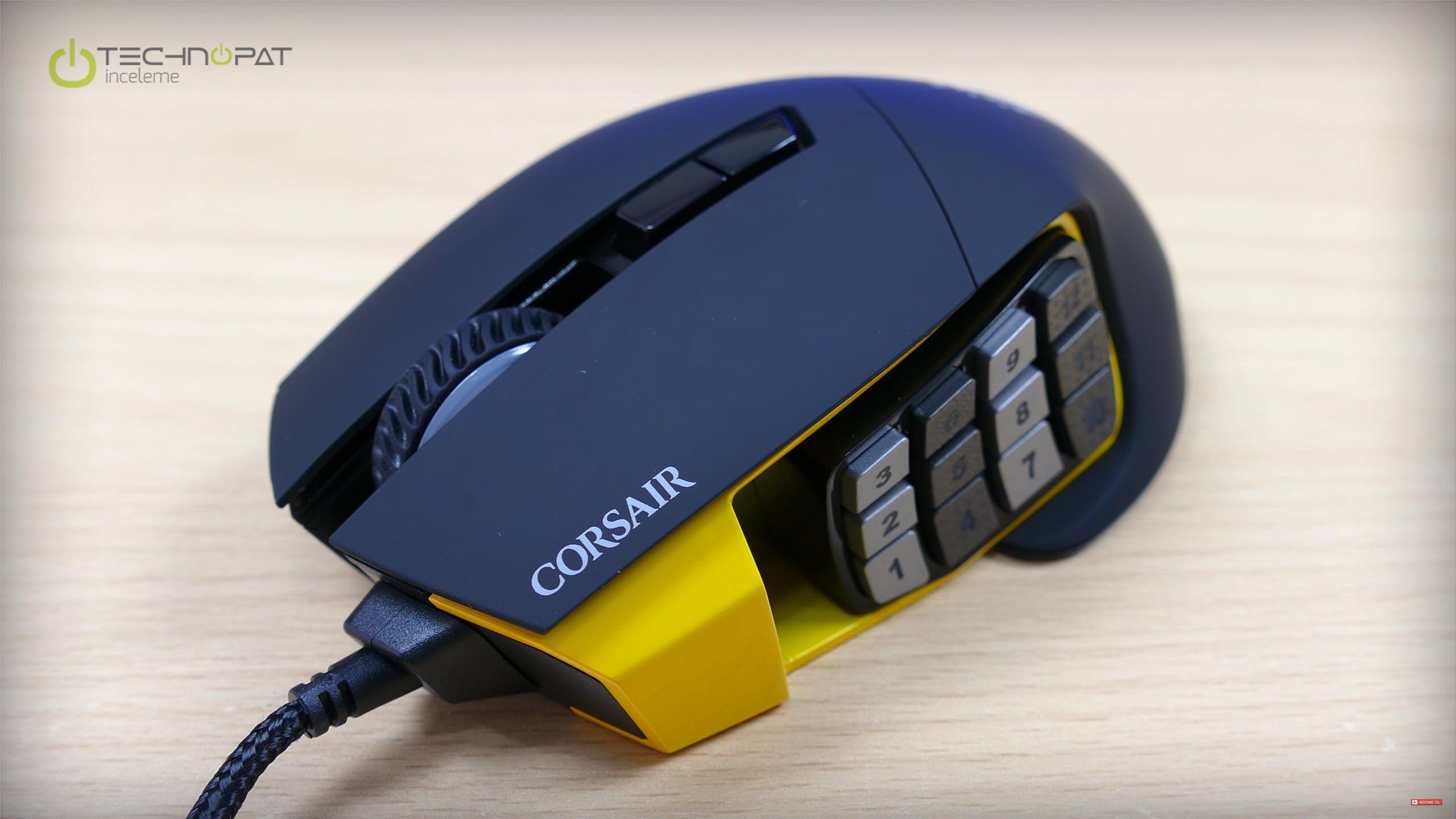 Corsair Gaming Scimitar RGB oldukça dikkat çekici