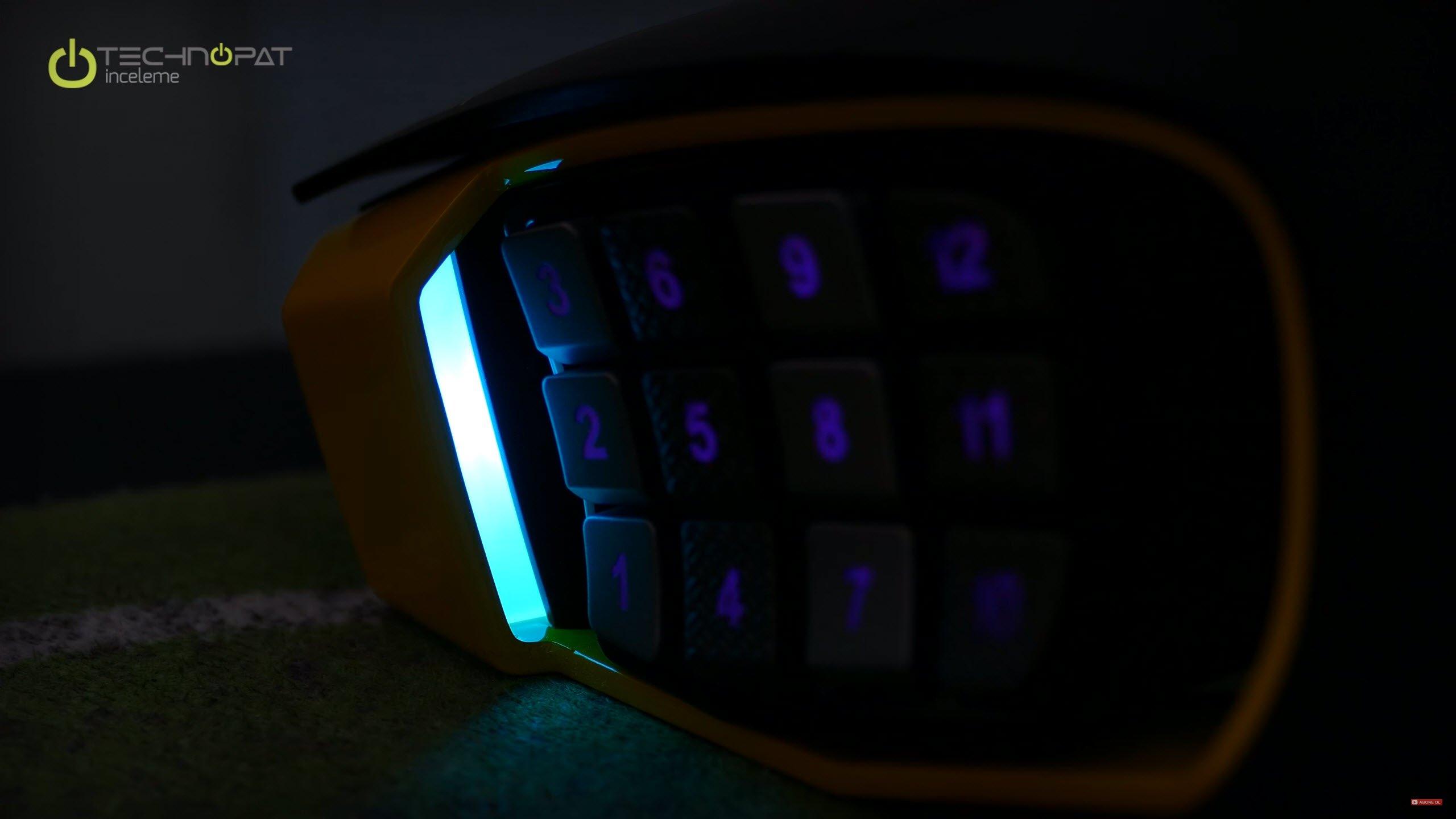 Corsair Scimitar RGB: Yan ışıklar