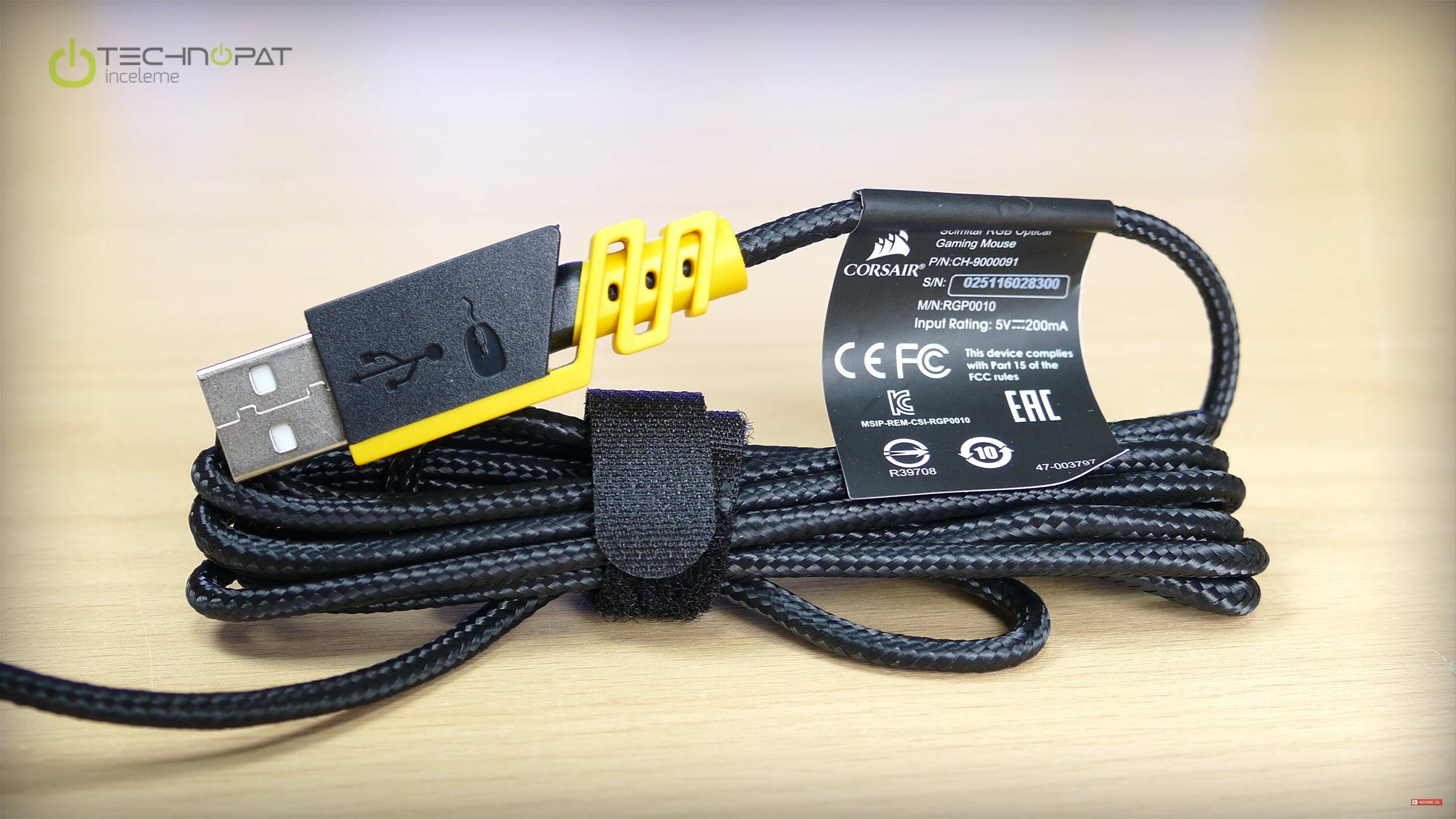 USB kablo ucu ve örgülü yapı