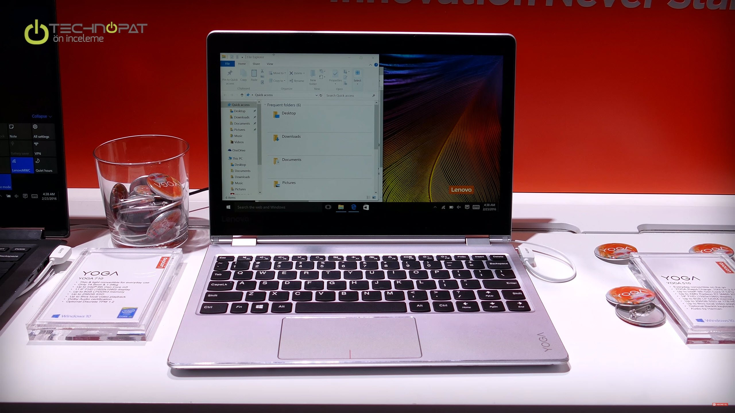 Lenovo Yoga 510: Standart dizüstü modunda