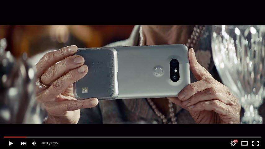 LG CAM Plus takılmış G5