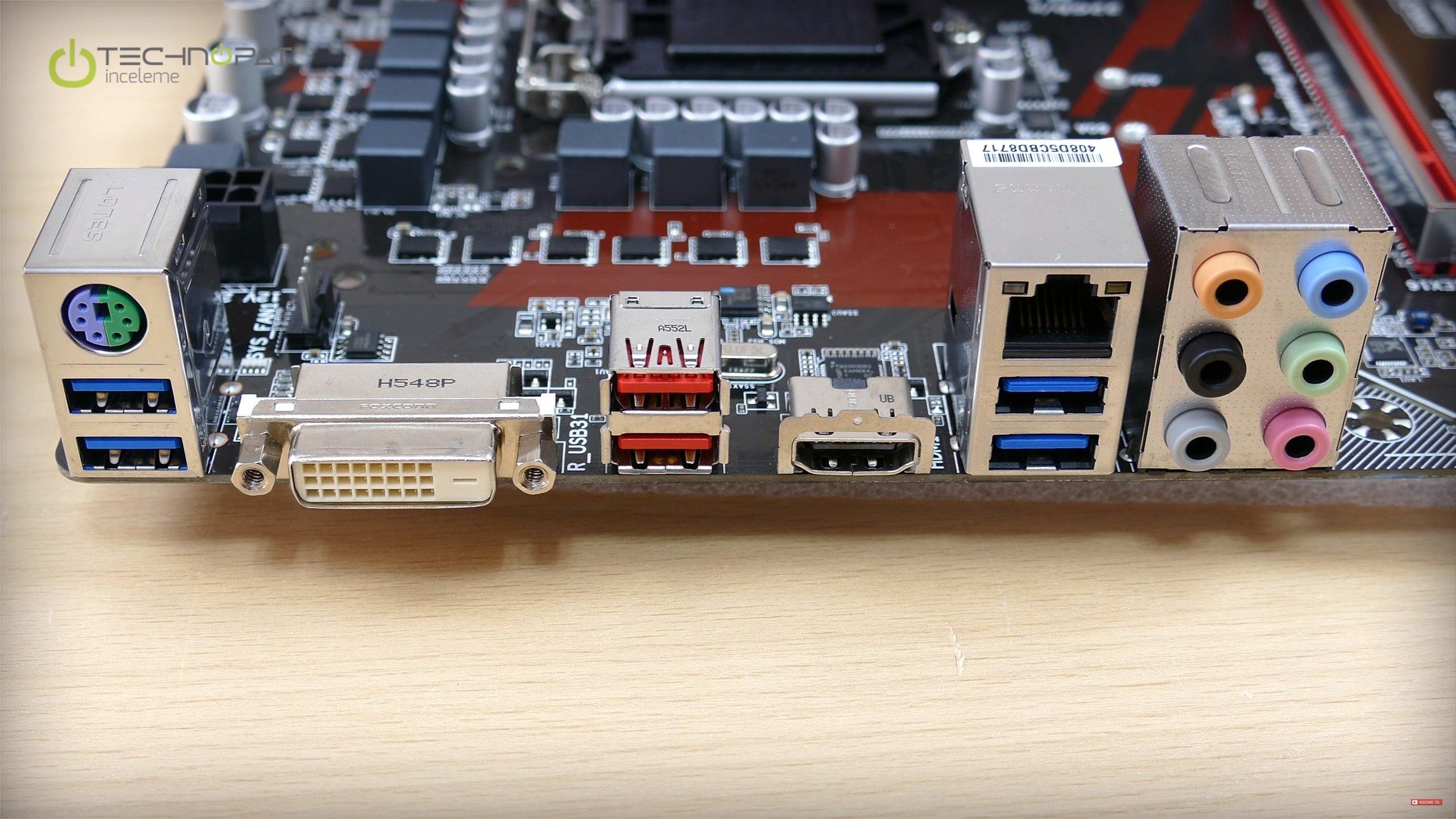 Portlar: Gigabyte Z170 Gaming K3 Anakart İncelemesi