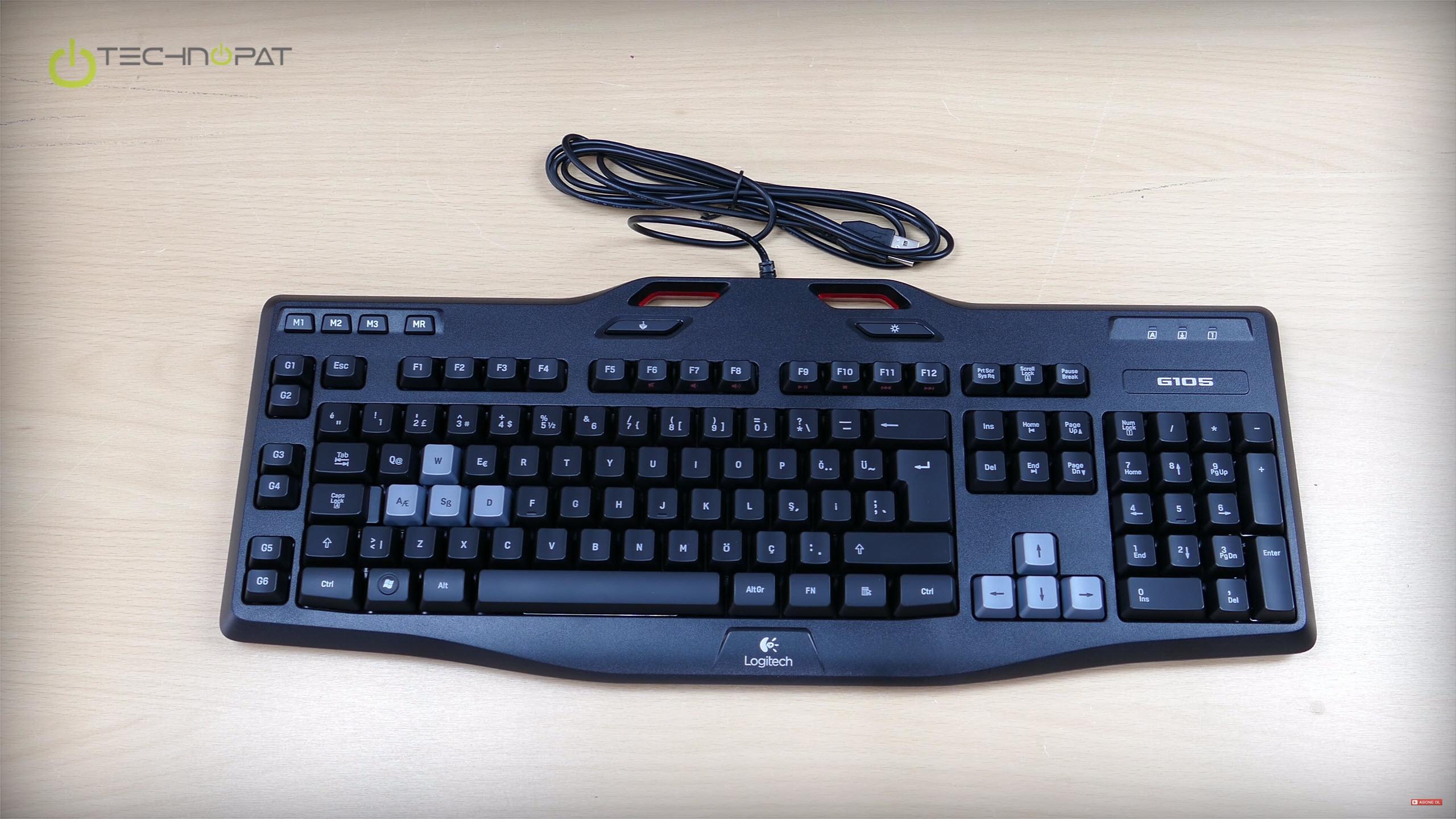Logitech G105 oyuncu klavyesi