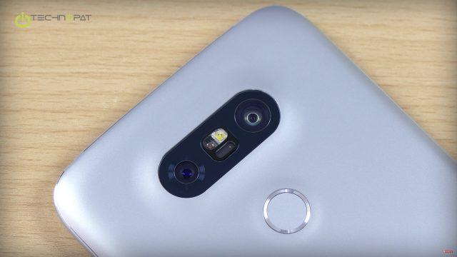 LG G5 biri geniş açılı olmak üzere iki ana kameraya sahip
