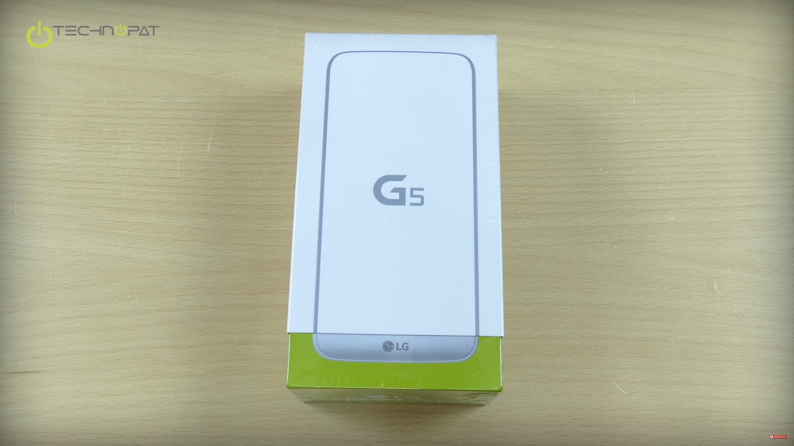 LG G5'in kutusu da telefonun modüler yapısını hatırlatıyor